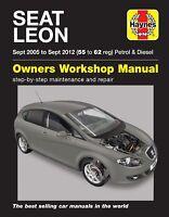 Seat Leon (Sept 05 - Sept 12) 55 to 62 Haynes Repair Manual 6408