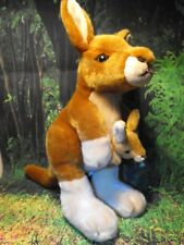 More details for kangaroo soft cuddly toy kangaroo and joey baby australian gift present fast p+p