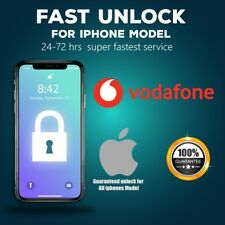 Vodafone Express Unlock Code service iPhone 8,7,7+ 6S 6 5S 5C 5 SE 4✅24-48 Hours