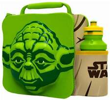 3D Yoda Lunch Bag Thermal Box & Drink Bottle School Set Official Star Wars 59758