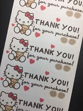 50 Hello Kitty N Teddy - Thank You Stickers