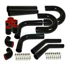 "Universal 3"" Inch Aluminum Intercooler Piping U-Pipe Kit+Coupler Black+T-Bolt"