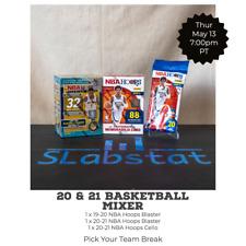 CHARLOTTE HORNETS 20-21 NBA HOOPS 19-20 Premium Blaster Cello Team Break 5/13