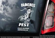 Vamonos Pest - Car Window Sticker - Breaking Bad - Heisenberg Walter White Sign