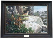 "Original Oil Painting on Board signed JOHN FORD CLYMER ""Out of the Silence"""