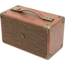 GPO Mini Westwood Rechargeable Battery Powered Compact Bluetooth Speaker Brown