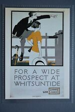 R&L Modern Postcard: 1922 Poster, For a Wide Prospect at Whitsuntide