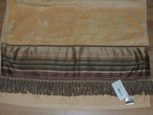 CROSCILL CARRINGTON BATH TOWEL BRONZE EMBELLISHED FRINGE NEW