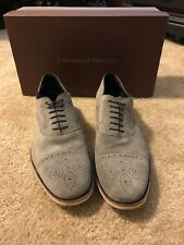 johnston and murphy grey suede dress shoes - 10.5 - excellent condition