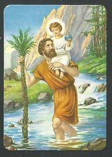Holy card de San Cristobal santino image pieuse estampa