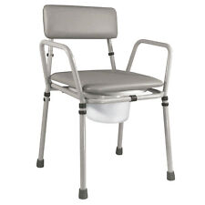 Essex Stacking Compact Commode Chair Adjustable Height Aidapt - VR161G