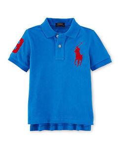 Genuine POLO RALPH LAUREN Short Sleeve Big Pony Polo Mesh Shirt for Boys