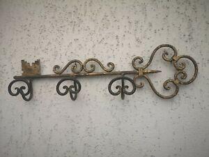 Wandgarderobe , Garderobe, Schmiedeeisen, Schlüssel Gold Landhaus Vintage