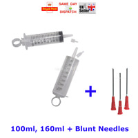 LIQUID INK REFILL KIT SET LARGE SYRINGES 100ml 160ml + BLUNT NEEDLES CHEAPEST