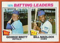 1977 Topps #1 Batting Leaders VG-VGEX+ George Brett Bill Madlock FREE SHIPPING