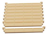 LEGO - 8 x Lamelle ohne Griff beige / Tan / Garagentor Rolltor / 4218 NEUWARE