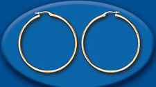 Large Gold Hoop Earrings 40mm Yellow Gold Hallmarked Hoops Creole