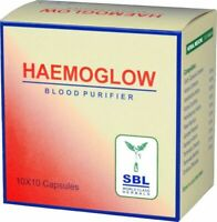 SBL Homeopathic Haemoglow Blood Purifier (100 Capsule)+ Free Shipping WorldWide
