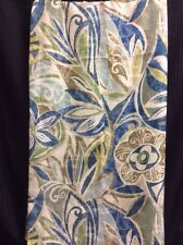 Shower Curtain Fabric Floral Modern Blue Green Aqua M Style Polyester Gorgeous 4