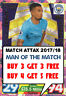 17/18 MATCH ATTAX MAN OF THE MATCH CARDS 2017/18 MOTM ATTACK