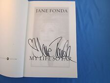 Jane Fonda Signed Autographed Book My Life So Far Nr Mt