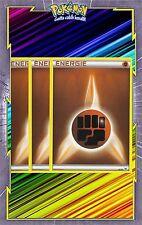 Energie Combat x3 - Cartes Pokemon Neuve Française - NRJ - Marron