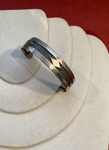 Elegant Vintage Native American Sterling Cuff Bracelet Navajo