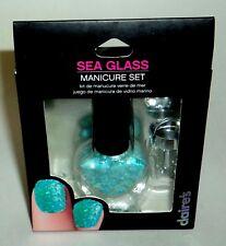 CLAIRE'S Sea Glass 3 Piece Manicure Set BLUE New In Box