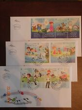ISRAEL 2013 Children's songs  set of 3 FDC