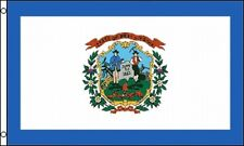 "West Virginia State Flag 3x5 ft WV Coat of Arms White Blue 36"" x 60"" Grommets"