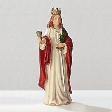 Statue St Barbara 3.5 inch Painted Resin Figurine Patron Saint Catholic Card Box
