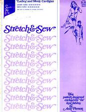 Vintage Stretch & Sew by Ann Person Pattern #500/600 Ladies' & Men's Cardigan