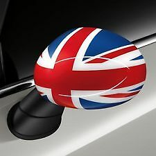 NEW OEM MINI Cooper Mirror Covers Caps Pair for POWERFOLD Mirrors Union Jack