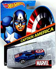 Marvel Avengers Comic Heros Hot Wheels 1/64 Character Car Captain America NEW