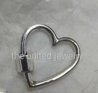 Heart Shape 925 Sterling Silver Handmade Carabiner Lock Jewelry