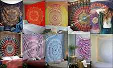 Indian Mandala Wall Hanging Dorm Decor Cotton Tapestry Queen Bedspread Art Throw