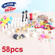 58x DIY Decor Garden Ornament Pot Accessories Craft Miniature Fairy Dollhouse