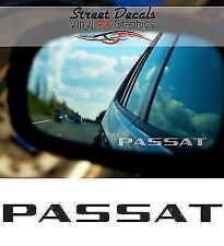 VW PASSAT WING MIRROR ETCHED GLASS CAR VINYL DECALS-STICKERS x3 – 7 YR VINYL