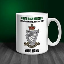 Royal Irish Rangers Regiment Personalised Ceramic Mug Gift