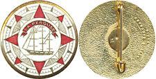 LA PEROUSE, rondache émaillée, 33 millimètres, A.B.+ Poinçon (4434)