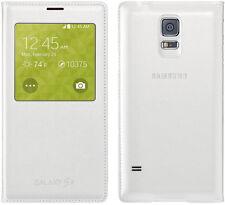 Original Samsung S VIEW FLIP CASE Galaxy S5 SM G900 F smartphone genuine cover