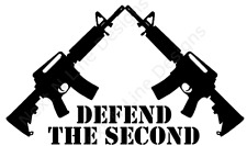 2nd Amendment, Defend The Second, America, NRA, Window Sticker, Car Decal
