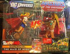 New Sealed Supergirl Vs She-Ra Mattel MOTU Classics Masters of the Universe DC