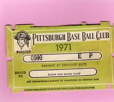 1971 Bob Gibson No-Hit Game/10K Ticket Pass St Louis Cardinals Vs Pirates