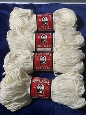 Discontinued Aunt Lydias Heavy Rug Yarn!  LOT Of 6! White!