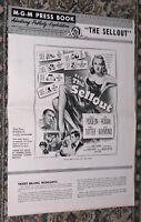 THE SELLOUT original 1952 MGM FILM NOIR pressbook AUDREY TOTTER/PAULA RAYMOND