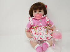 """16"""" Baby Doll Reborn Soft Vinyl Silicone Doll Clothing & Accessories - Pink"""