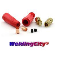 WeldingCity 3-pk Threaded Stud to Tweco Adatper w// Cable Connector 1//0-3//0 50-70