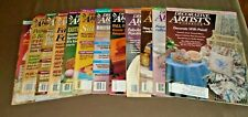 Lot Of 12 Decorative Artist'S Workbook Tole Painting Magazine 1989-1996