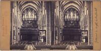 Suisse Tempio Da Neuchâtel Foto Bruder Fratelli Stereo Vintage Albumina Ca 1865